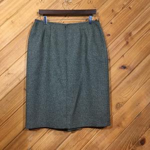 Le Suit Front Pleat Pencil Skirt size 14